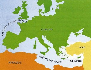 photo 1 ---002 CARTE EUROPE CHYPRE