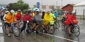 à Bourgoin, départ sous la pluie de la 7 ème compagnie
