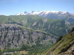 vue du col de Sarenne, sur Clavans, Besse, la Meije