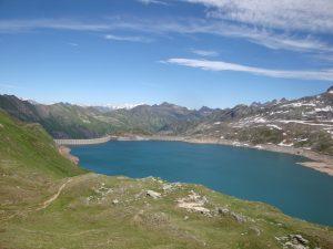 lac de Naret et les 4000 Suisses vus du col Naret