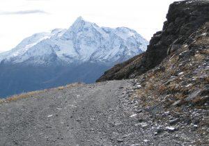 Le Mont Pourri, vu de la piste à proximité du Roc Noir