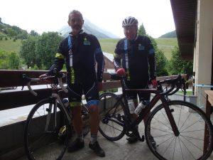 Guy et Albert du vélo club de Pérrusson en Tourraine